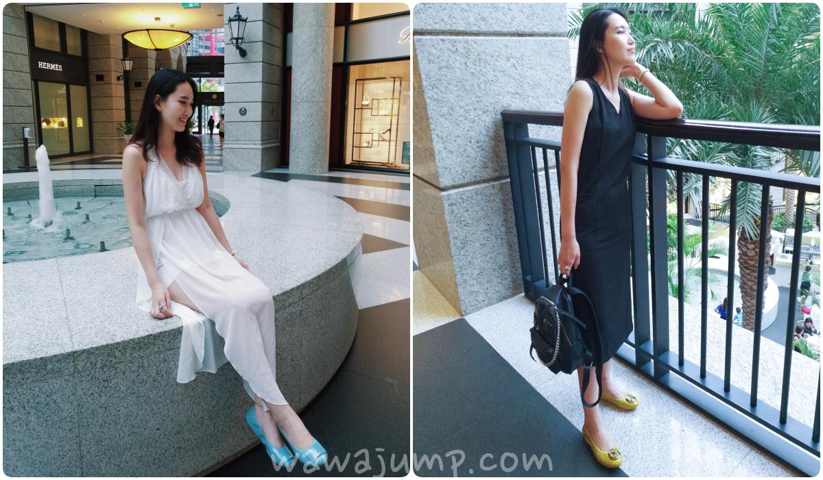 摺疊鞋 也有如此靈活的搭配,牛仔褲、套裝、度假長洋裝...百搭的亮色Viina女鞋成了我的今夏新寵!